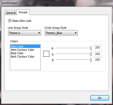 Best Icon Groups - Global settings