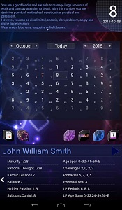 Personal numerology calendar for Android