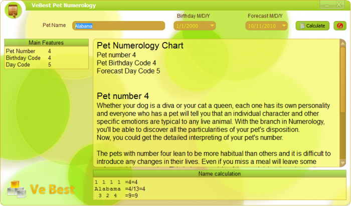 Ve Best Free Pet Numerology Calculator 3